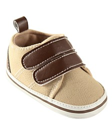 Luvable Friends Hook-and-Loop Crib Shoes, Tan, 6-18Months