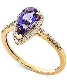 Amethyst (1-9/10 ct. t.w.) & Diamond (1/10 ct. t.w.) Ring in 14k Gold