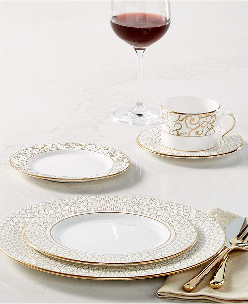 Lenox Venetian Lace Gold Dinnerware Collection