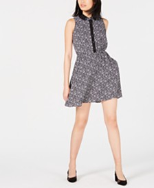 Maison Jules Sleeveless Fit & Flare Shirtdress, Created for Macy's