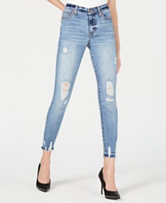 53e650977 Kendall + Kylie Ripped Ankle Jeans