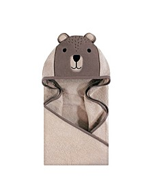 Unisex Baby Animal Face Hooded Towel, Modern Bear 1-Pack, One Size