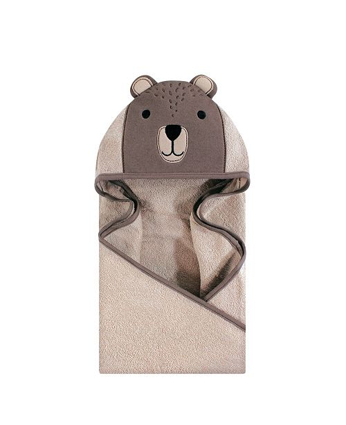 Hudson Baby Unisex Baby Animal Face Hooded Towel, Modern Bear 1-Pack, One Size