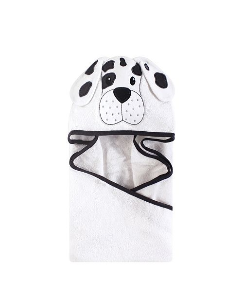 Hudson Baby Unisex Baby Animal Face Hooded Towel, Dalmatian 1-Pack, One Size