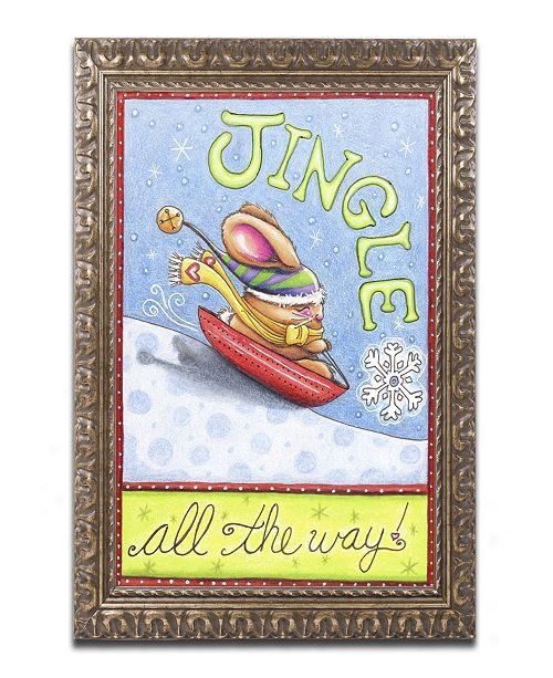 "Trademark Global Jennifer Nilsson Jingle All The Way Ornate Framed Art - 16"" x 20"" x 0.5"""