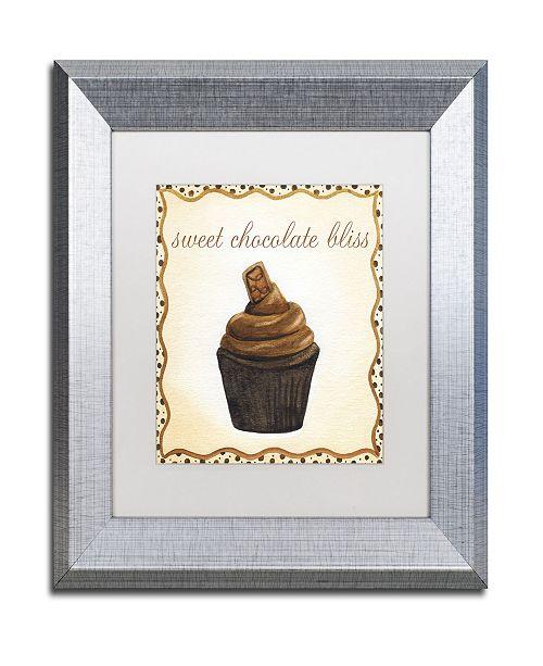 "Trademark Global Jennifer Nilsson Chocolate Cupcake Matted Framed Art - 16"" x 16"" x 0.5"""