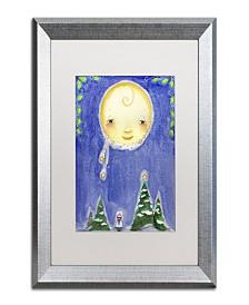 "Jennifer Nilsson Holiday Moon Matted Framed Art - 35"" x 47"" x 2"""
