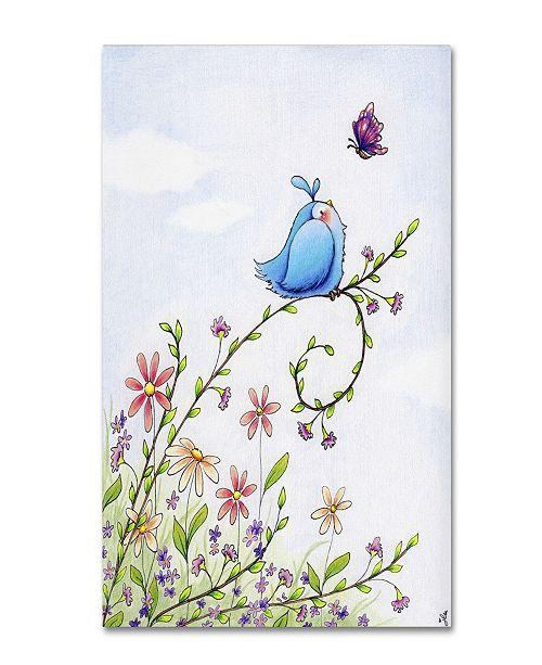 "Trademark Global Jennifer Nilsson Spring Welcome Canvas Art - 11"" x 14"" x 0.5"""