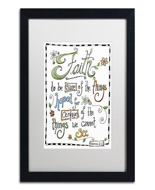 "Trademark Global Jennifer Nilsson Words of Faith - Certainty Matted Framed Art - 14"" x 19"" x 2"""