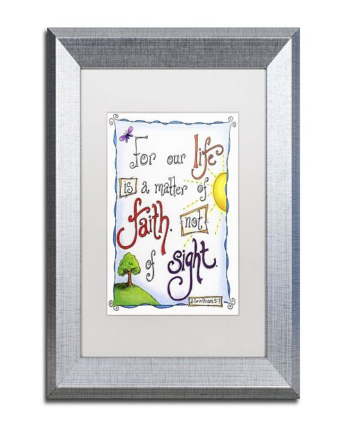 "Trademark Global Jennifer Nilsson Words of Faith - Faith Not Sight Matted Framed Art - 11"" x 14"" x 0.5"""
