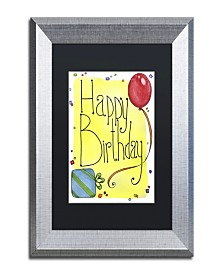 "Jennifer Nilsson Happy Birthday Matted Framed Art - 14"" x 14"" x 2"""