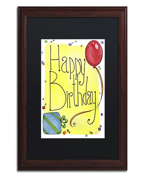 "Trademark Global Jennifer Nilsson Happy Birthday Matted Framed Art - 11"" x 14"" x 0.5"""