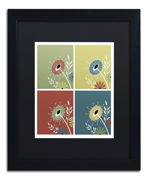 "Trademark Global Jennifer Nilsson Autumn Flowers Matted Framed Art - 11"" x 14"" x 0.5"""