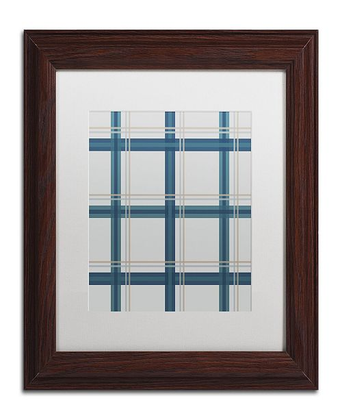 "Trademark Global Jennifer Nilsson Grey Blue Matted Framed Art - 11"" x 14"" x 0.5"""