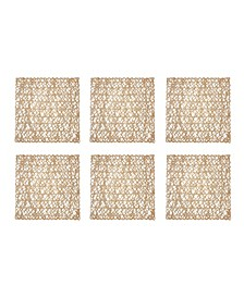 Woven Paper Square Placemat, Set of 6