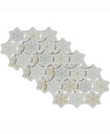 Placemat Embroidered Snowflake, Set of 4