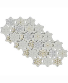 Design Imports Placemat Embroidered Snowflake, Set of 4