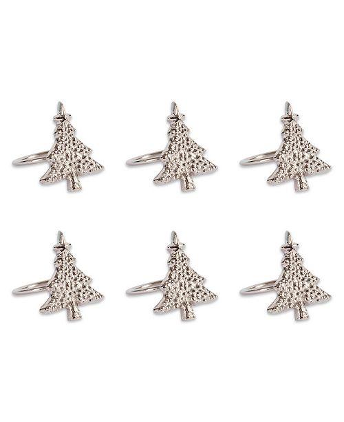 Christmas Tree Napkin Rings.Christmas Tree Napkin Ring Set Of 6