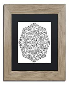 "Kathy G. Ahrens Sublime Mandala Matted Framed Art - 35"" x 35"" x 2"""