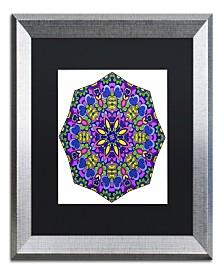 "Kathy G. Ahrens Sublime Sunshine Mandala Matted Framed Art - 18"" x 18"" x 2"""
