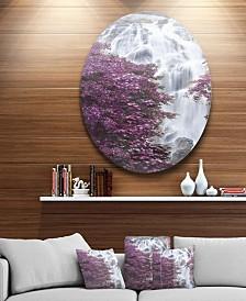 "Designart 'Klonglan Waterfall Floral' Abstract Metal Artwork - 23"" x 23"""