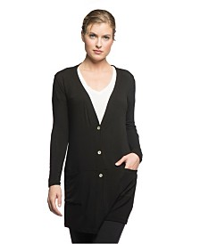 YALA Leslie Long Sleeve Oversize Viscose from Bamboo Knit Cardigan
