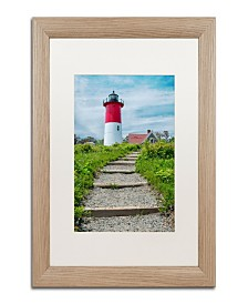 """Michael Blanchette Photography Path to the Light Matted Framed Art - 1"""" x 16"""" x 16"""""""
