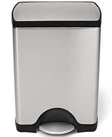simplehuman Trash Can, 30L Rectangular