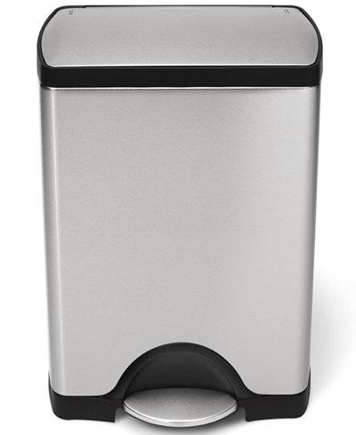 simplehuman Trash Can, 30L Rectangular - Kitchen Gadgets - Kitchen ...