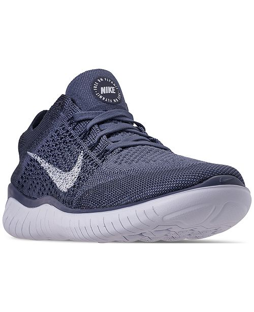 60bd6284e Nike Men's Free RN Flyknit 2018 Running Sneakers from Finish Line ...
