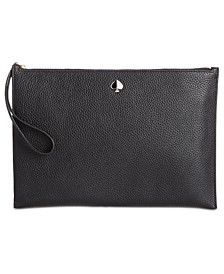 Polly Leather Wristlet