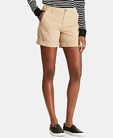 Lauren Ralph Lauren Petite Convertible Cotton Twill Short