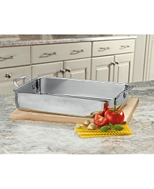 "Cuisinart® Chef's Classic™ Stainless Steel 14"" Lasagna Pan with Roasting Rack"