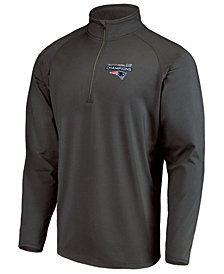 Majestic Men's New England Patriots Champ Play Action Pass Quarter-Zip Pullover