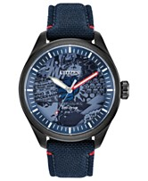 1d385777d0a Marvel by Citizen Eco-Drive Men s Marvel Heroes Blue Strap Watch 43mm