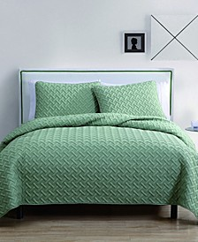 Nina Embossed 2 Piece Twin Quilt Set