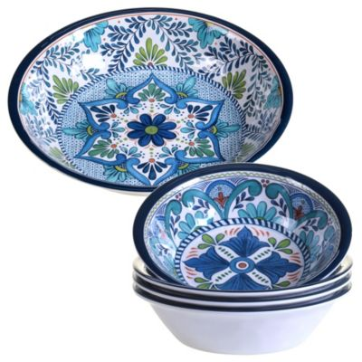 Talavera 5-Pc. Melamine Salad and Serving Set
