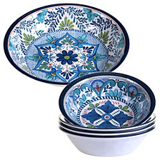 Certified International Talavera 5-Pc. Salad and Serving Set