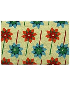 """Pinwheels 18"""" x 30"""" Doormat"""