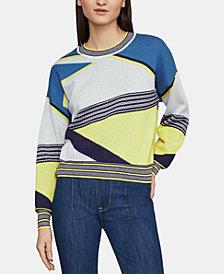 BCBGMAXAZRIA Cotton Striped Sweater