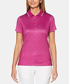 Chevron-Print Golf Polo