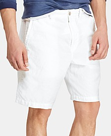 "Men's 8.5"" Straight-Fit Linen Cotton Chino Shorts"