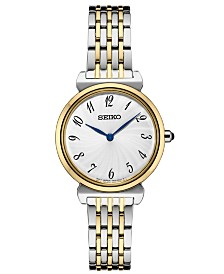 Seiko Women's Essential Two-Tone Stainless Steel Bracelet Watch 29.6mm