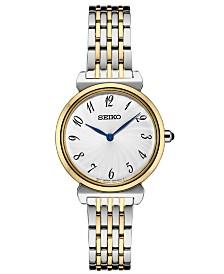 Seiko Women's Essential Two-Tone Stainless Steel Bracelet Watch 29.6mm