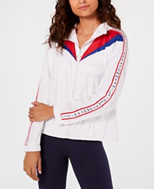 Tommy Hilfiger Sport Colorblocked Logo-Sleeve Windbreaker