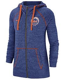 Nike Women's New York Mets Gym Vintage Full-Zip Hooded Sweatshirt