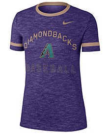 Nike Women's Arizona Diamondbacks Slub Crew Ringer T-Shirt