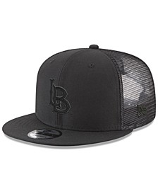Long Beach State 49ers Black on Black Meshback Snapback Cap