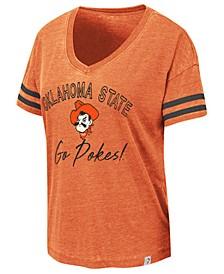 Women's Oklahoma State Cowboys Burnout V-Neck T-Shirt