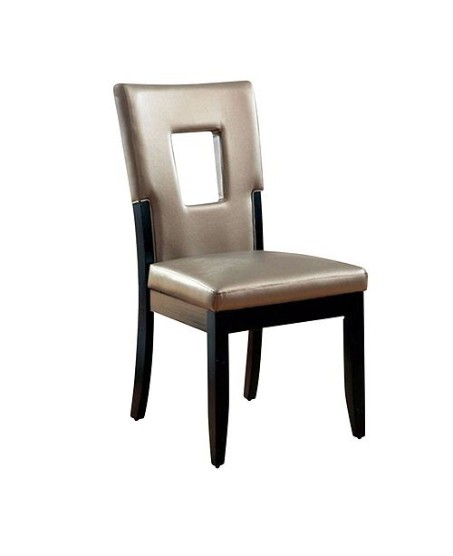 Benzara Contemporary Side Chair - Black Finish - Set Of 2